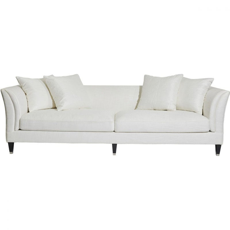 Taylor Low Back 3 Seater Sofa Ivory Linen - Notbrand