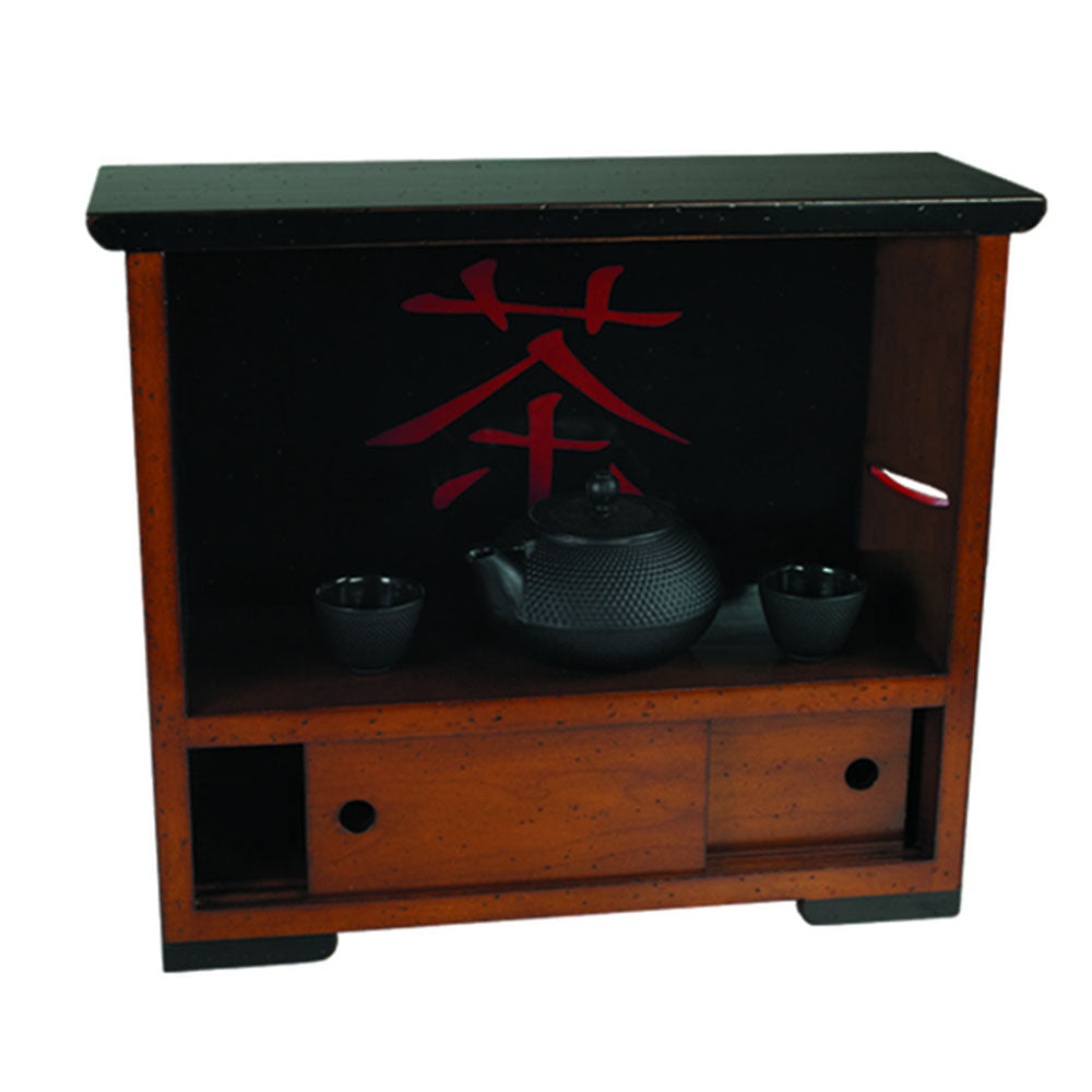Kanji Tea Timber Display Cabinet Storage - Notbrand