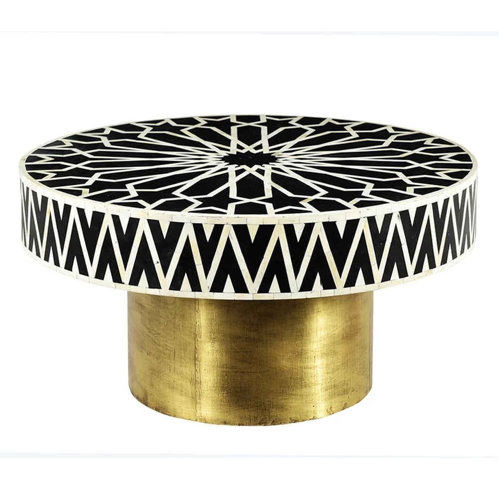 Ari Bone Inlay Round Coffee Table - Notbrand