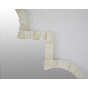 Maya Bone Inlay Wood Mirror - Notbrand
