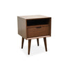 Etara Wooden 1 Drawer Bedside Table Walnut - Notbrand