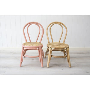 Jessie Kids Rattan Chair – Natural - Notbrand