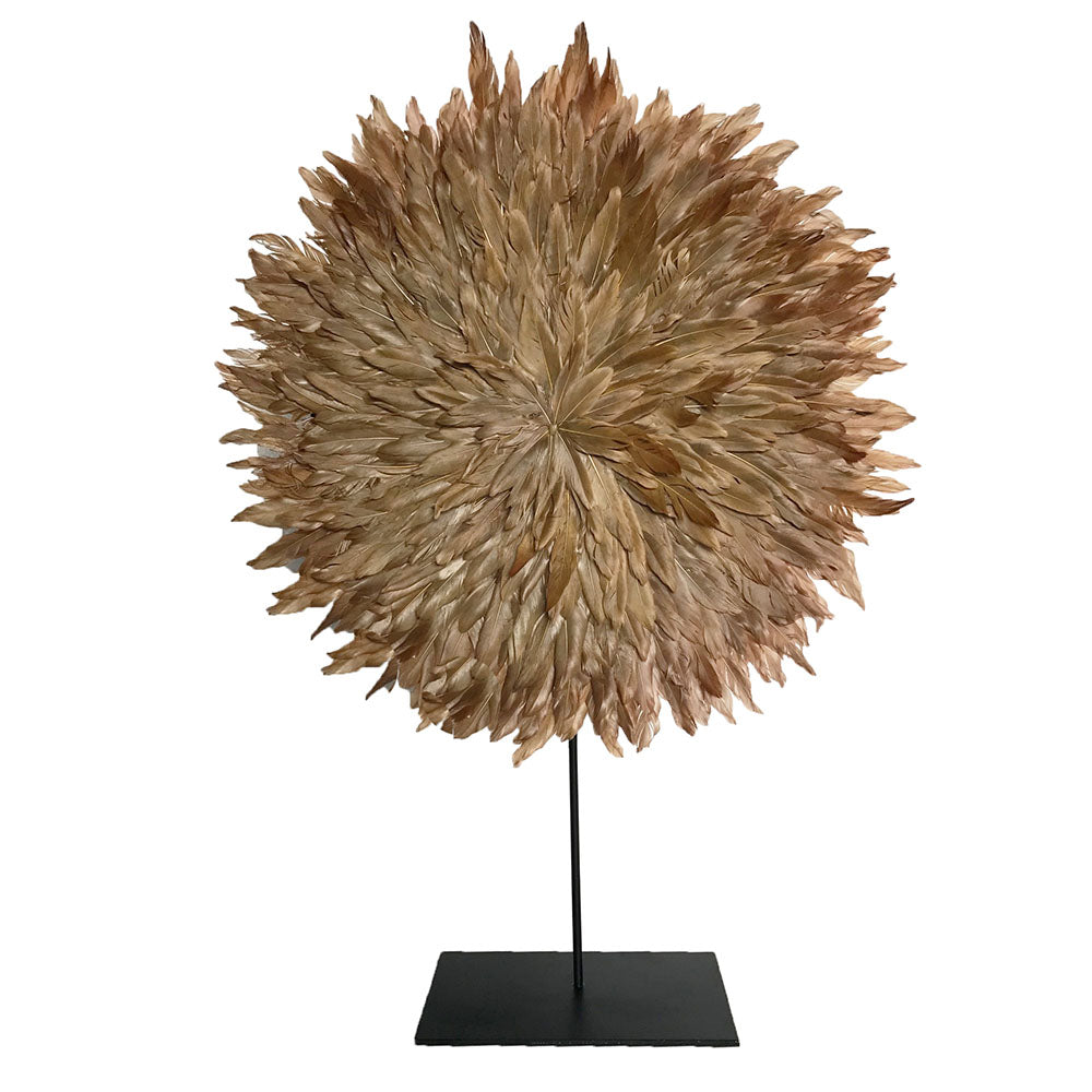 Zambezi Feather Disc & Stand Small Caramel - Notbrand