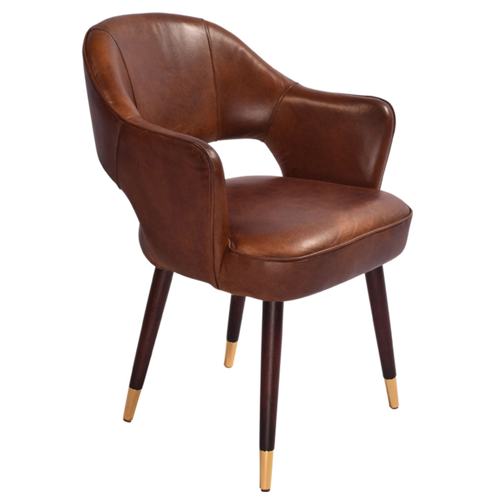Laurent Dining Chair Aged Leather - Notbrand