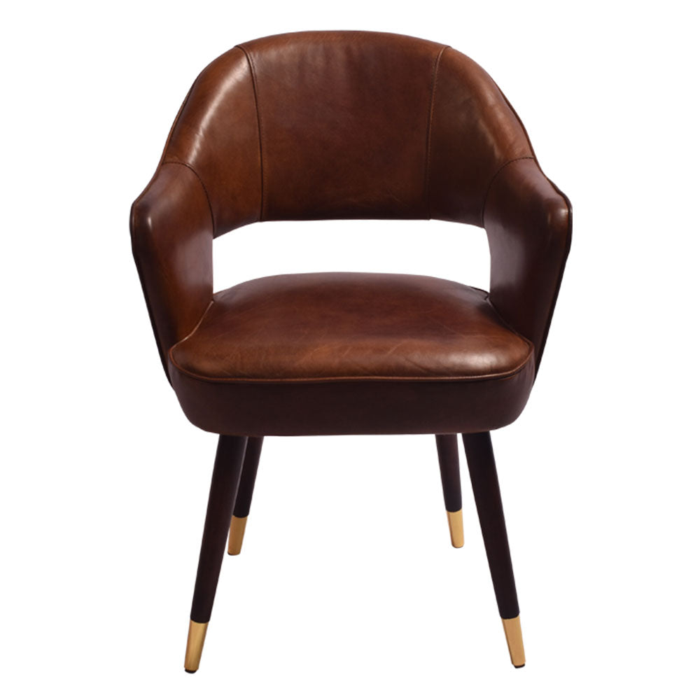 Clayton Leather Dining Chair Aged Finish - Notbrand