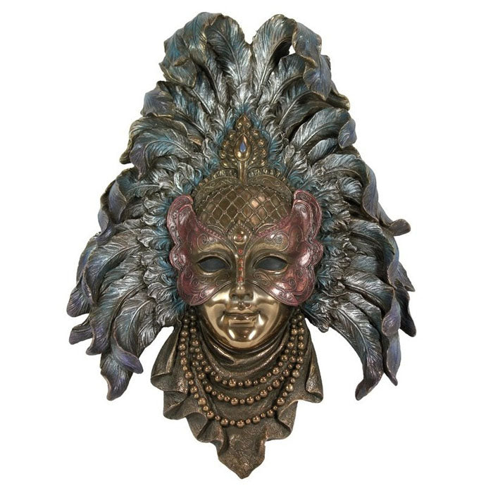 Venetian Wall Mask - Feathers