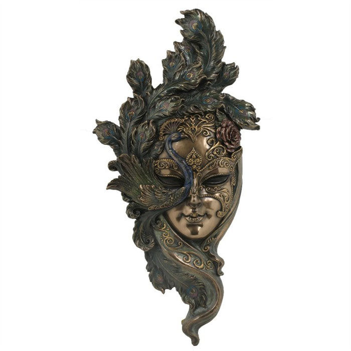 Venetian Wall Mask - Peacock Small