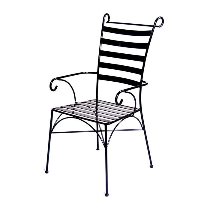 Venice Wrought Iron Carver Armchair - Notbrand