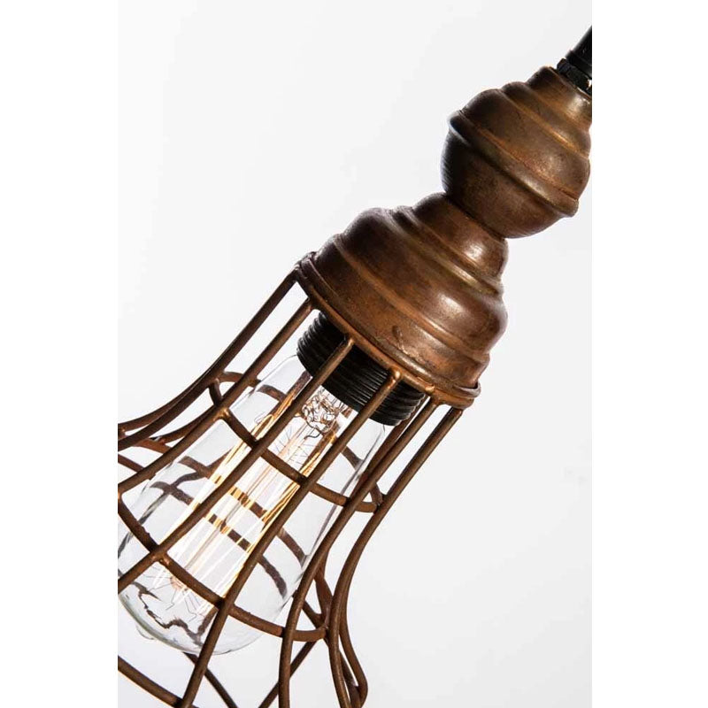 Vintage Iron Caged Ceiling Lamp - Notbrand
