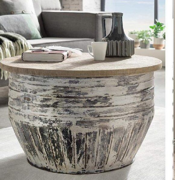 Pamela White Wash Coffee Table - Notbrand
