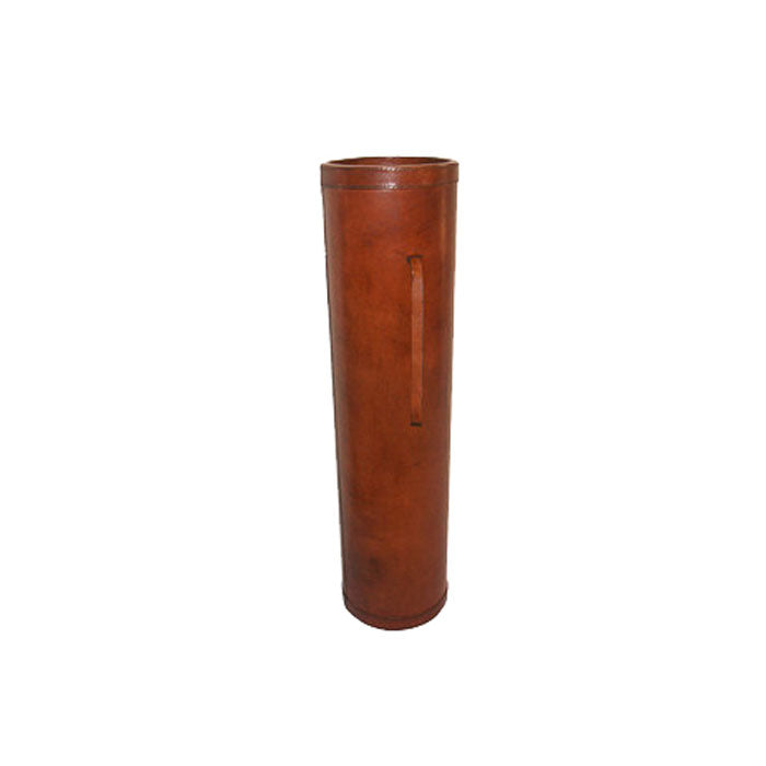 Gartner Tan Leather Walking Stick Holder / Umbrella Stand - Notbrand