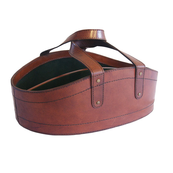 Casillero Tan Leather Wine Basket - Notbrand