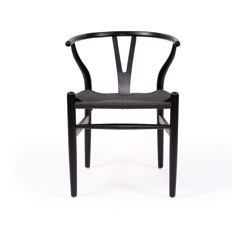 Wishbone Designer Solid Beech Replica Chair – Black - Notbrand