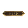 Wood & Brass Plaque - Head - Notbrand