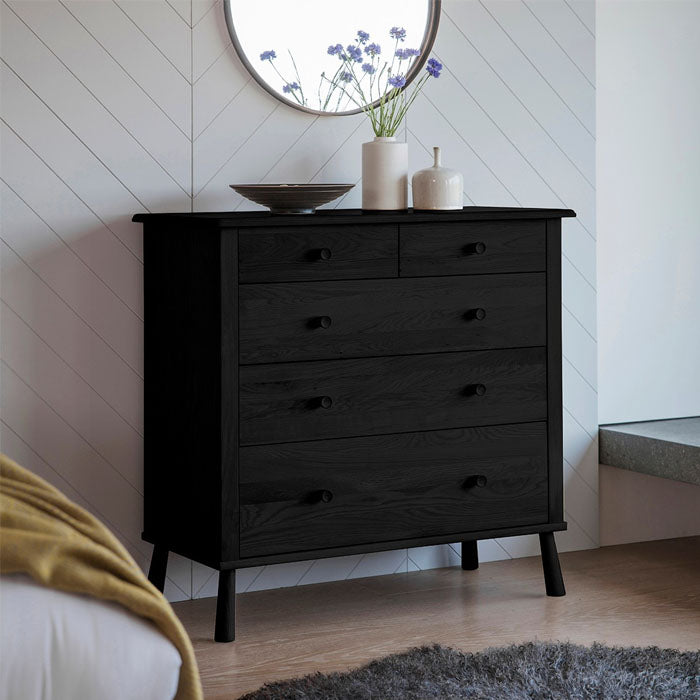 Wycombe 5 Drawer Chest Black - Notbrand