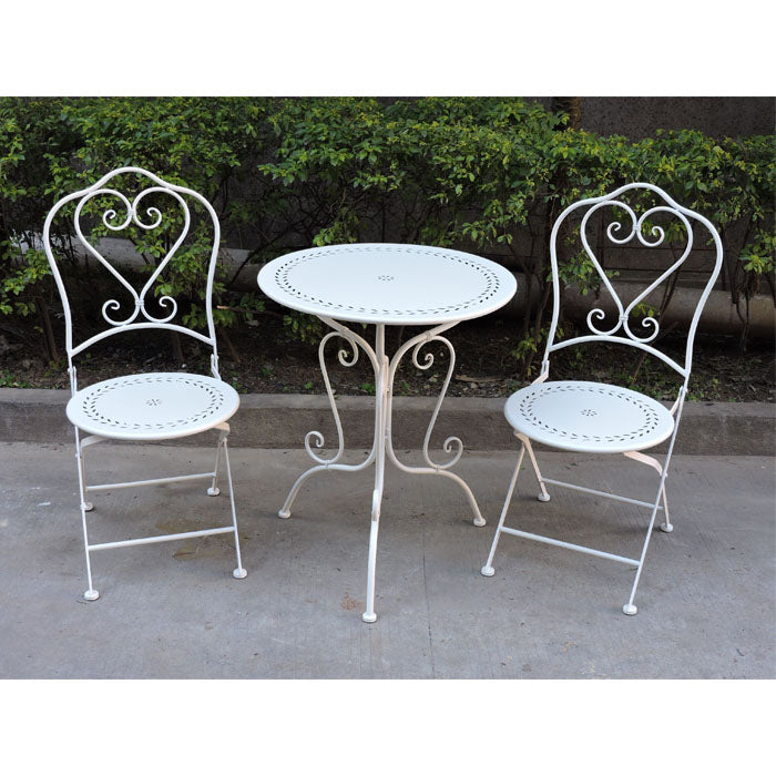 3 Piece Zoe Bistro Wrought Iron Outdoor Setting - Notbrand