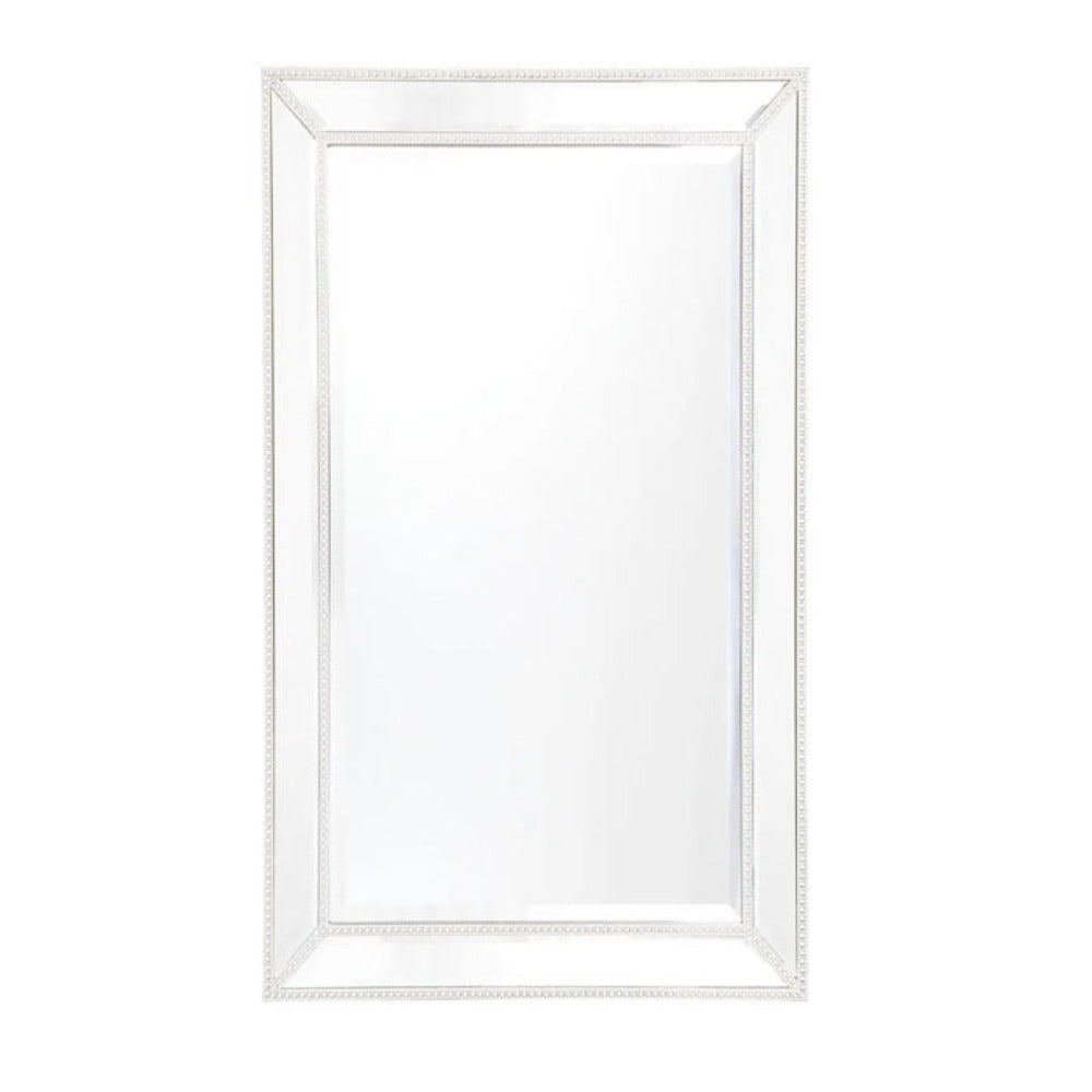 Zeta Wall Mirror - Medium White