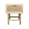 Zoe Natural Rattan Bedside Table - Notbrand