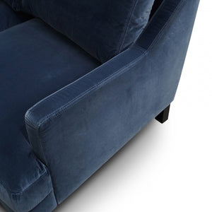 Medonna 3 Seater Sofa - Midnight Navy Velvet - Notbrand