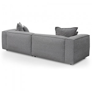 Harper 3 Seater Sofa with Cushion and Pillow - Oslo Grey - Notbrand