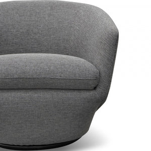 Margaret Swivel Oslo Grey Fabric Lounge Chair - Notbrand