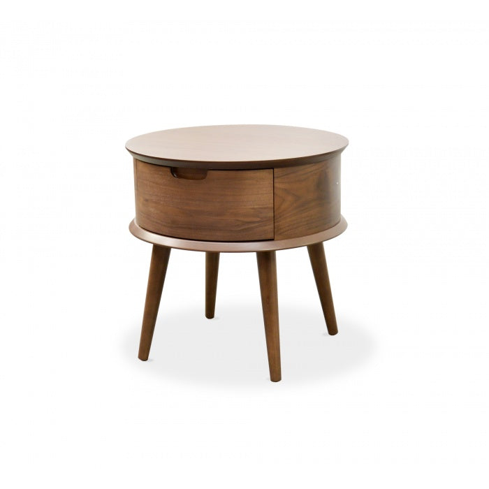 Astra Scandinavian Side Table - Walnut - Notbrand