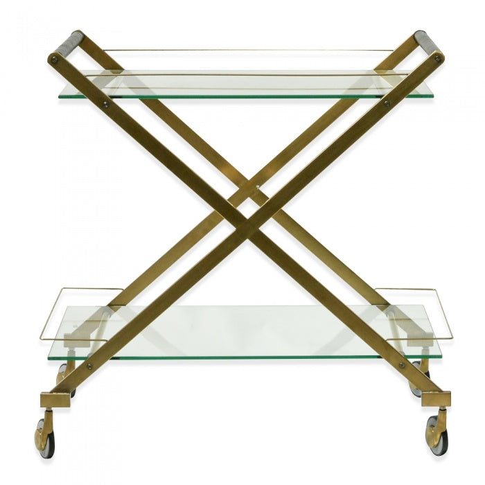 Hanes Brushed Gold Bar Cart Trolley - Notbrand