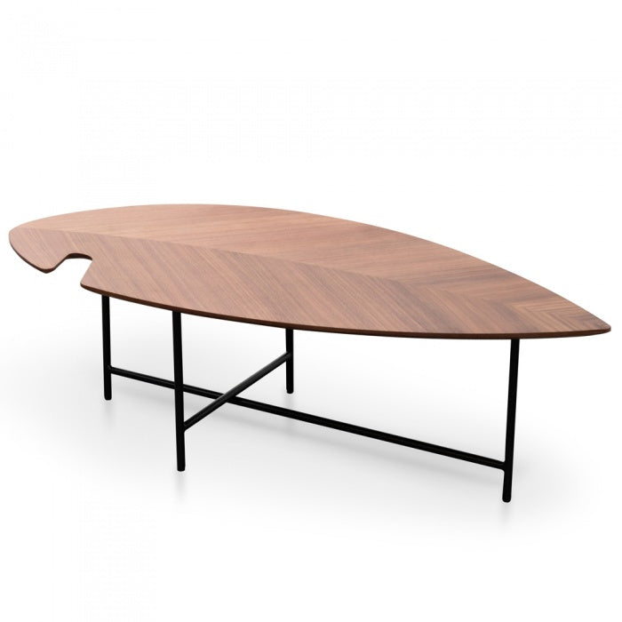 Leaf Shaped Coffee Table Walnut - Notbrand