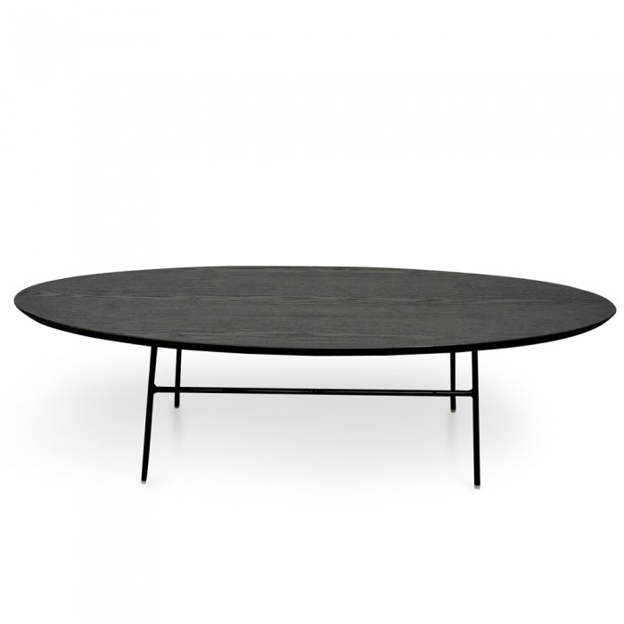 Preston Coffee Table - Black Ash Veneer - Black Legs - Notbrand