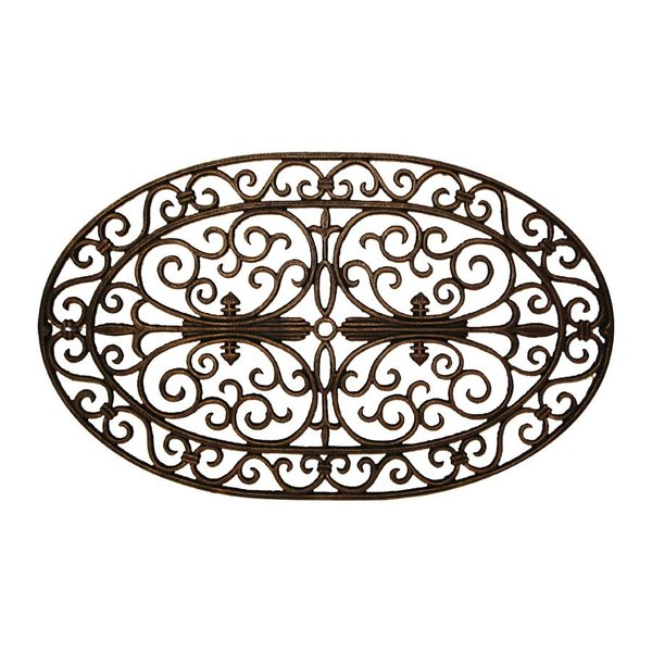 Cast Iron Door Mat / Wall Plaque Oval