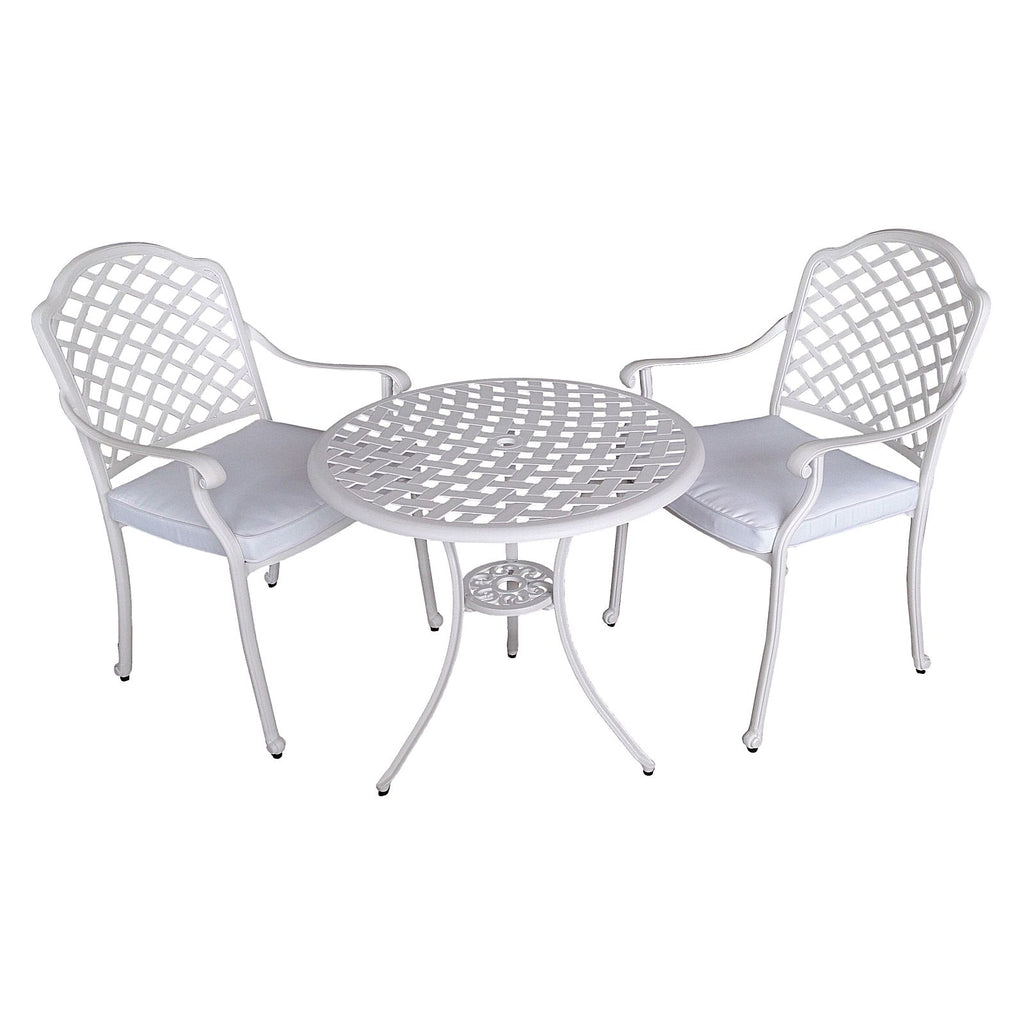 3 Piece Andrea Cast Aluminium Outdoor Dining Setting