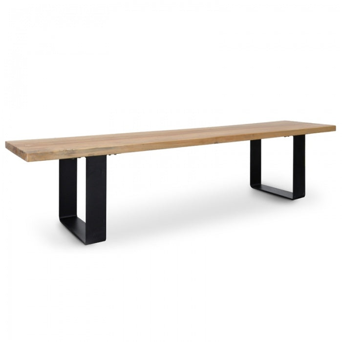 Claire Reclaimed Elm Wood Bench 2m - Notbrand
