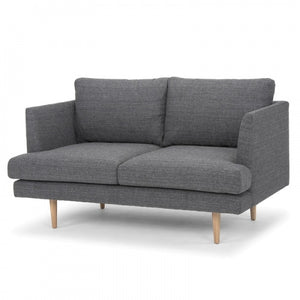 Hudson 2 Seater Sofa - Metal Grey - Notbrand