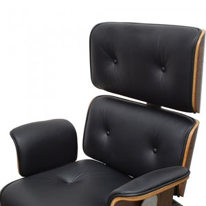 Premium Replica Eames High Back Italian Leather Office Chair - Black - Notbrand
