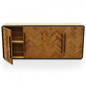 Sarah Reclaimed Elm Wood Buffet Unit - Natural - Notbrand
