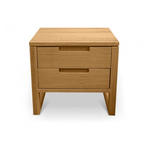 Sweden Drawer Wooden Bedside Table - Natural Oak - Notbrand