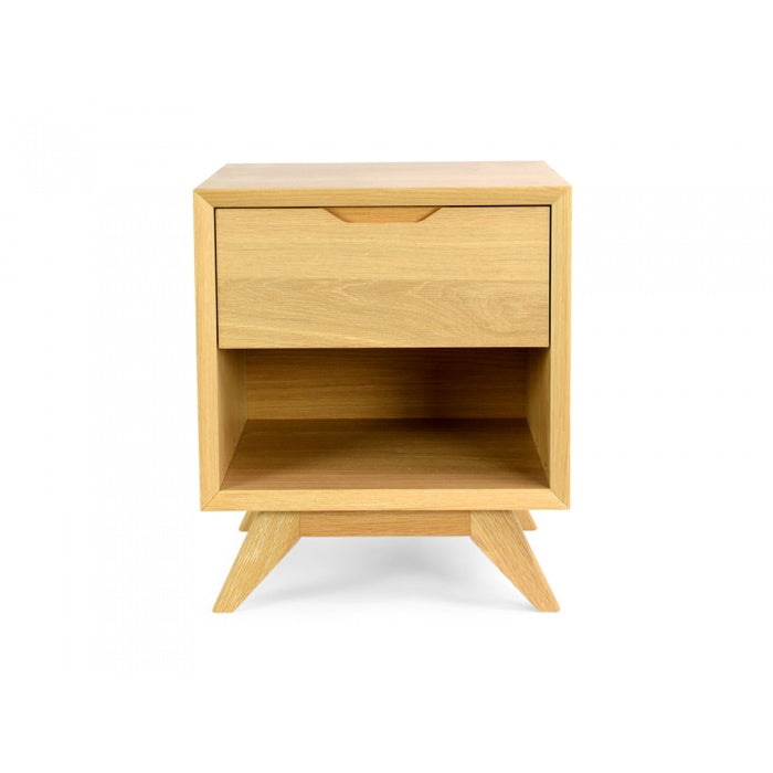 Zendon Scandinavian Lamp Side Table - Natural - Notbrand