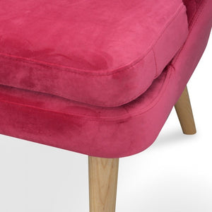 Maya High Back 2 Seater Sofa - Dark Pink - Notbrand