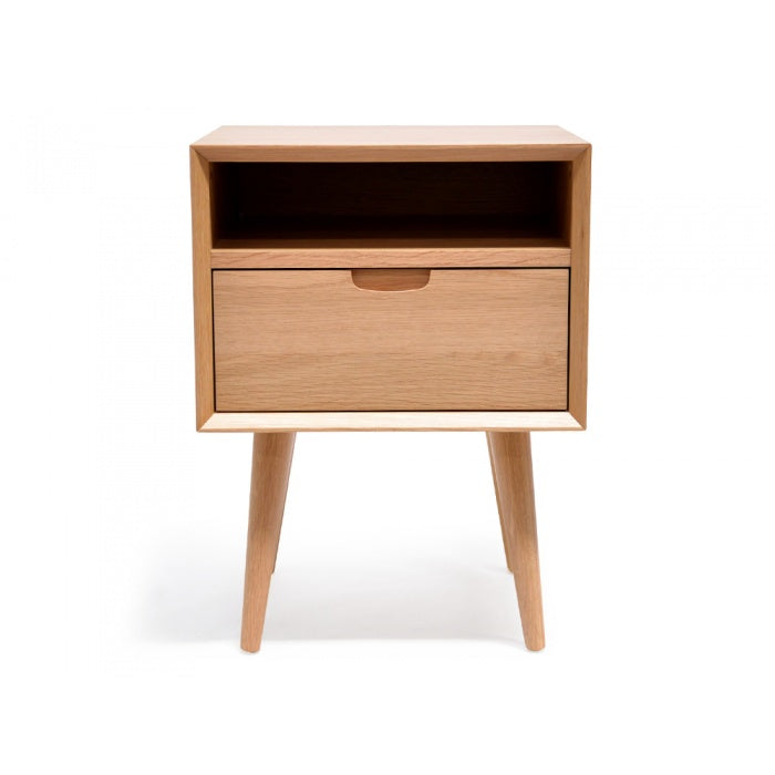 Etara Wooden 1 Drawer Bedside Table - Notbrand