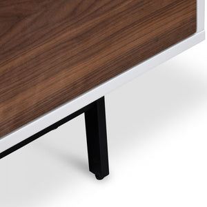 Freya Lowline TV Entertainment Unit - Walnut - Notbrand