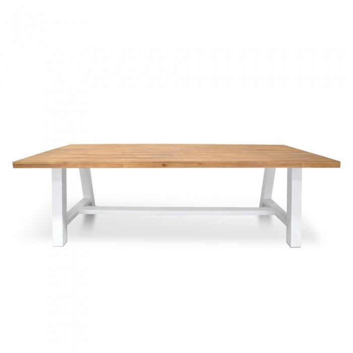 Allan Outdoor 2.5m Dining Table With White Base - Notbrand