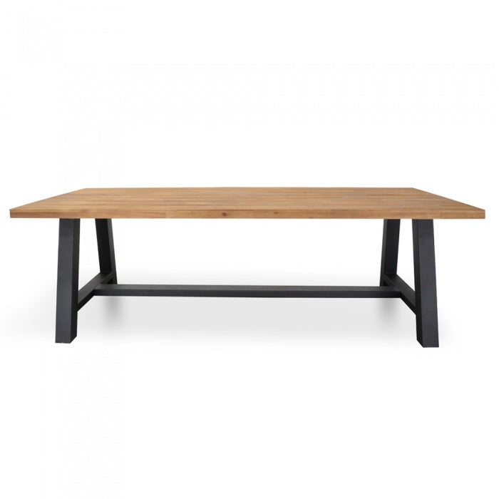 Trit Outdoor 2.5m Dining Table With Black Base - Notbrand