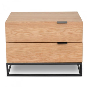 Maira Bedside Table - Natural Oak - Notbrand