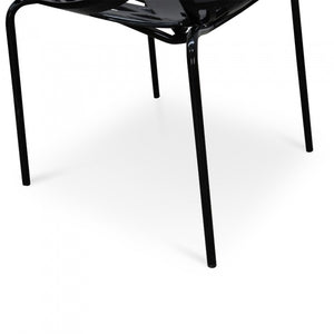 Venice Dining Chair - Black - Black Legs - Notbrand