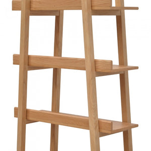 Martyn Timber Bookshelf Storage - Natural Oak - Notbrand