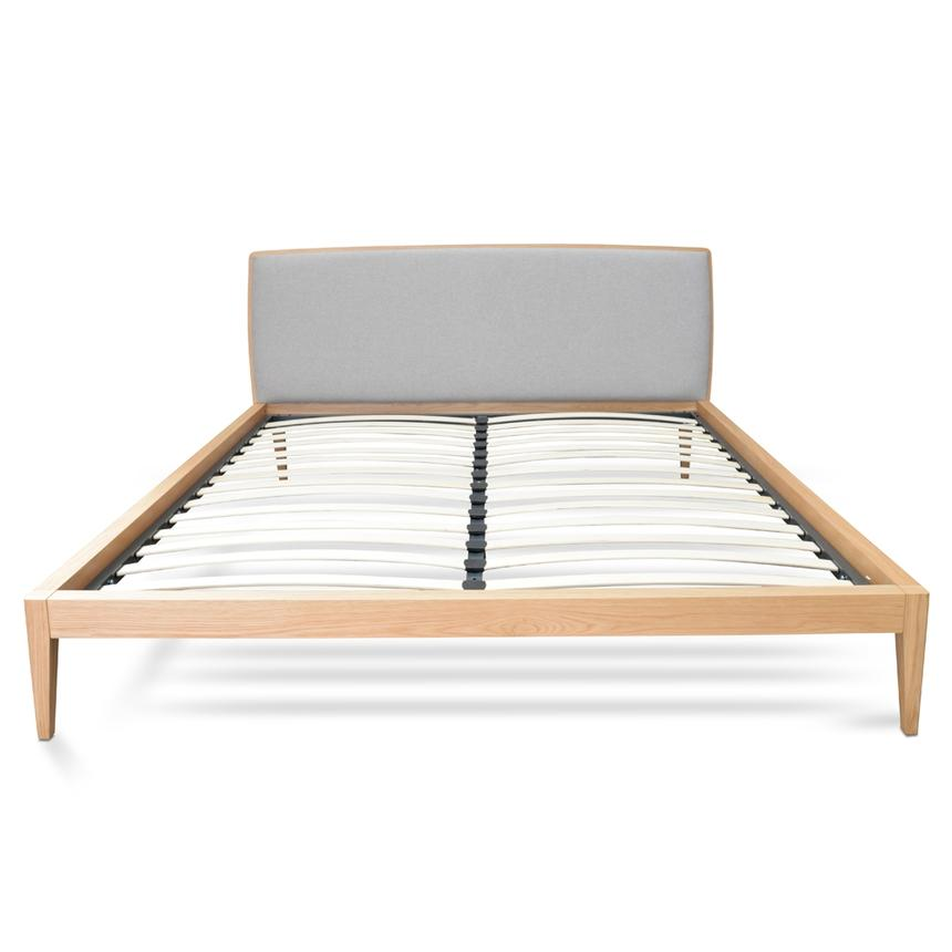 Gaea Natural Oak Queen Sized Bed Frame - Notbrand