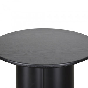 Alexa Round Wood Top Side Table - Black - Notbrand