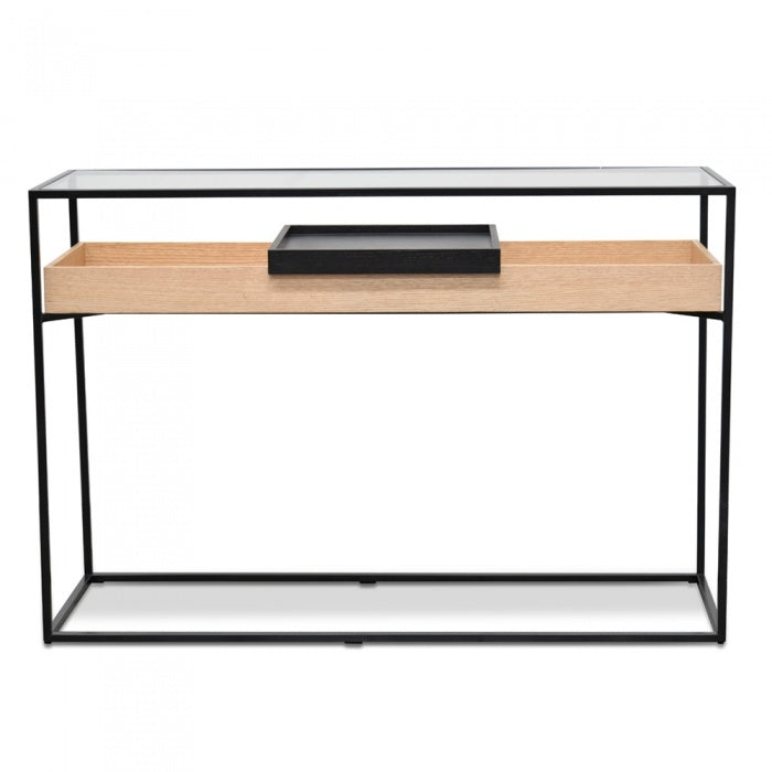 Harvey Metal Frame Console Natural - Black - Notbrand