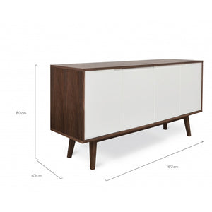 Taylor Scandinavian Sideboard Buffet Unit - Walnut - Notbrand
