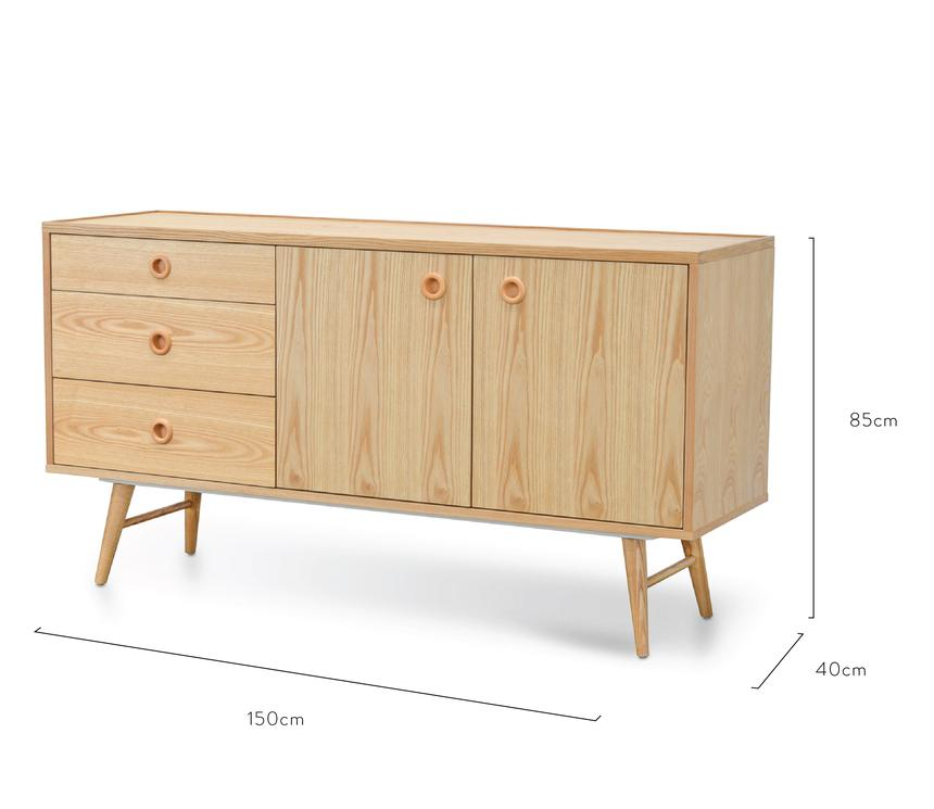 Roost Scandinavian Natural Buffet Unit - Notbrand